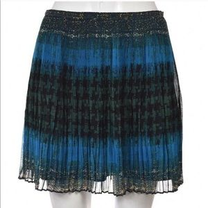 Madewell Broadway & Broome Pleated Teal Skirt Sz 2